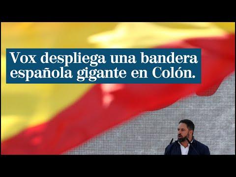 bandera española de vox