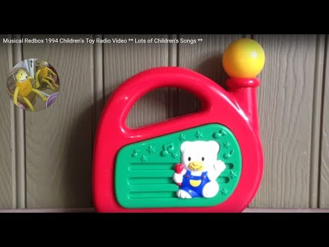 Musical Redbox 1994 Children's Toy Radio Video ** Lots of Children's Songs **