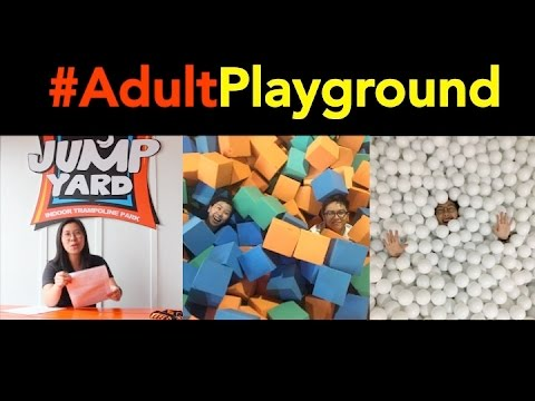 Jump Yard, Trampoline Park, & Ball Pit - CookaiTV Vlog #4