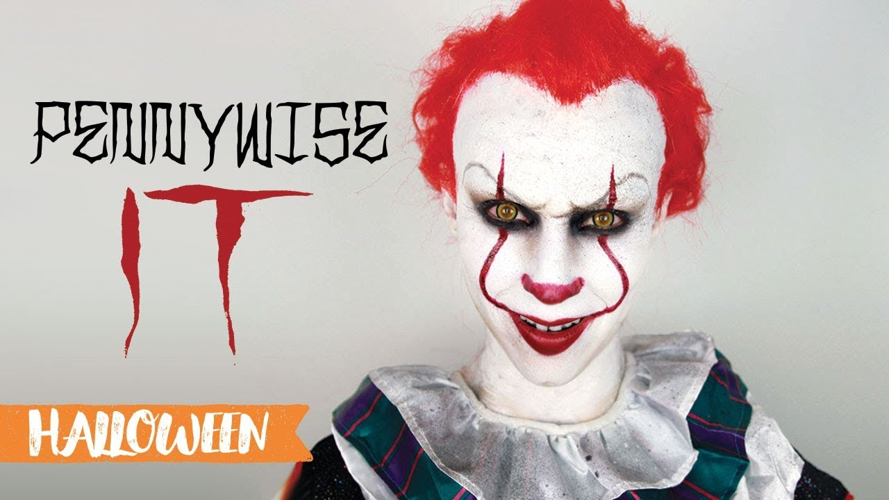 maquillage d 39 halloween pennywise it a 2017 youtube. Black Bedroom Furniture Sets. Home Design Ideas