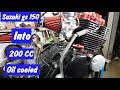 Suzuki Gs 150 engine rebuild into 200cc with oil cooler