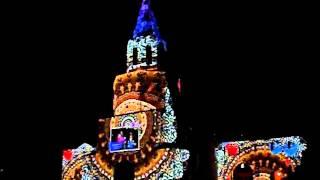 Световое шоу на фасаде казанского кремля