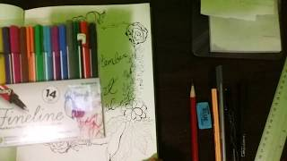 Drawing Paper Scroll/How to design a LIFESTYLE BULLET JOURNAL/SEPTEMBER drawing design//
