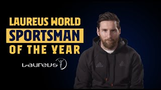 FULL SPEECH | Leo Messi receives Laureus Sportsman of the Year
