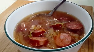 Cabbage And Kielbasa Soup (low Carb / Paleo / Primal)