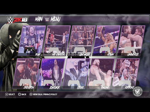 WWE 2K18 Concept - All Match Types \Main Menu & Game Modes #WWE2K18