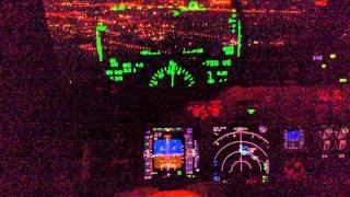 Boeing 737-800 HUD(Head-Up Display) aided Approach RWY 34L at ZBTJ