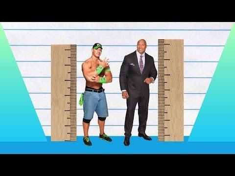 How Much Taller? - John Cena vs Dwayne