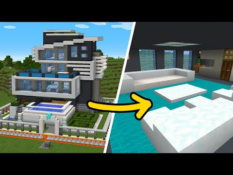 minecraft:-how-to-build-the-safest-modern-house---interior-tutorial