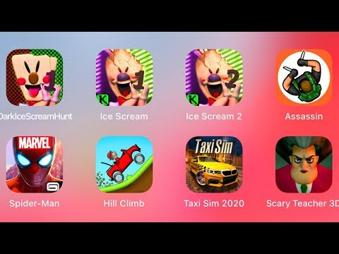 Dark Ice Scream,Ice Scream,Ice Scream 2,Hunter Assassin,Spiderman,Hill Climb,Scary Teacher,