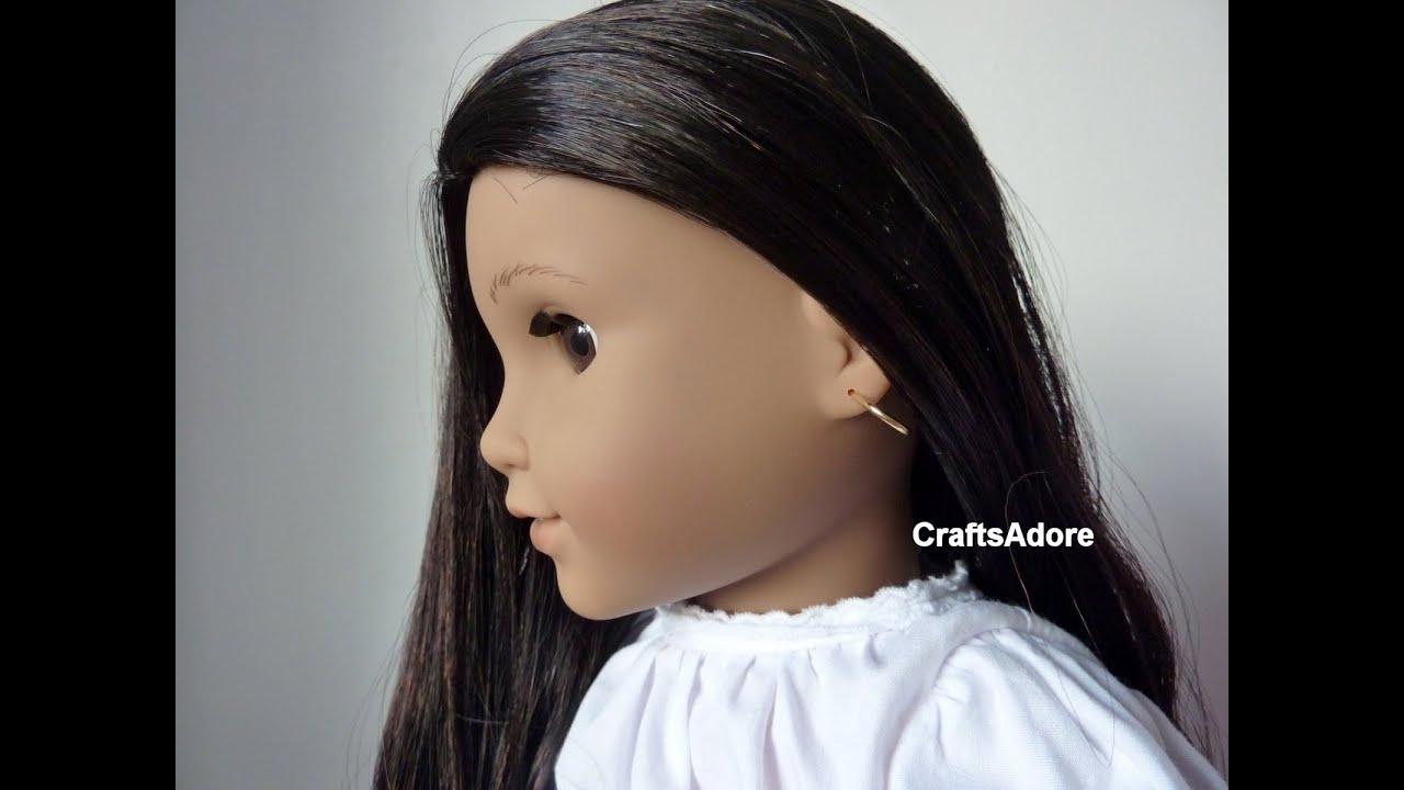 American Girl Doll Josefina Earrings Taking Out Tutorial ...