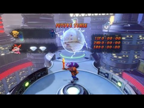 Crash Bandicoot Warped Level 31: Future Tense Both Gems (DLC)