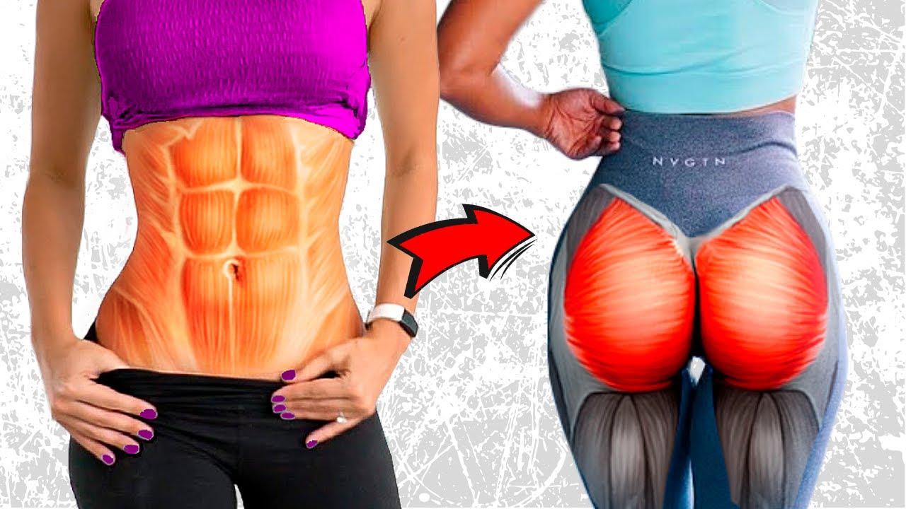 5 Minutos de Exercícios Para Perder Barriga e Aumentar Gluteos e Coxas em 21 Dias {TREINO EM CASA}