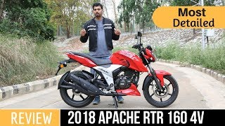 2018 TVS Apache RTR 160 4V Ride Review (Hindi) 🔥🔥🔥