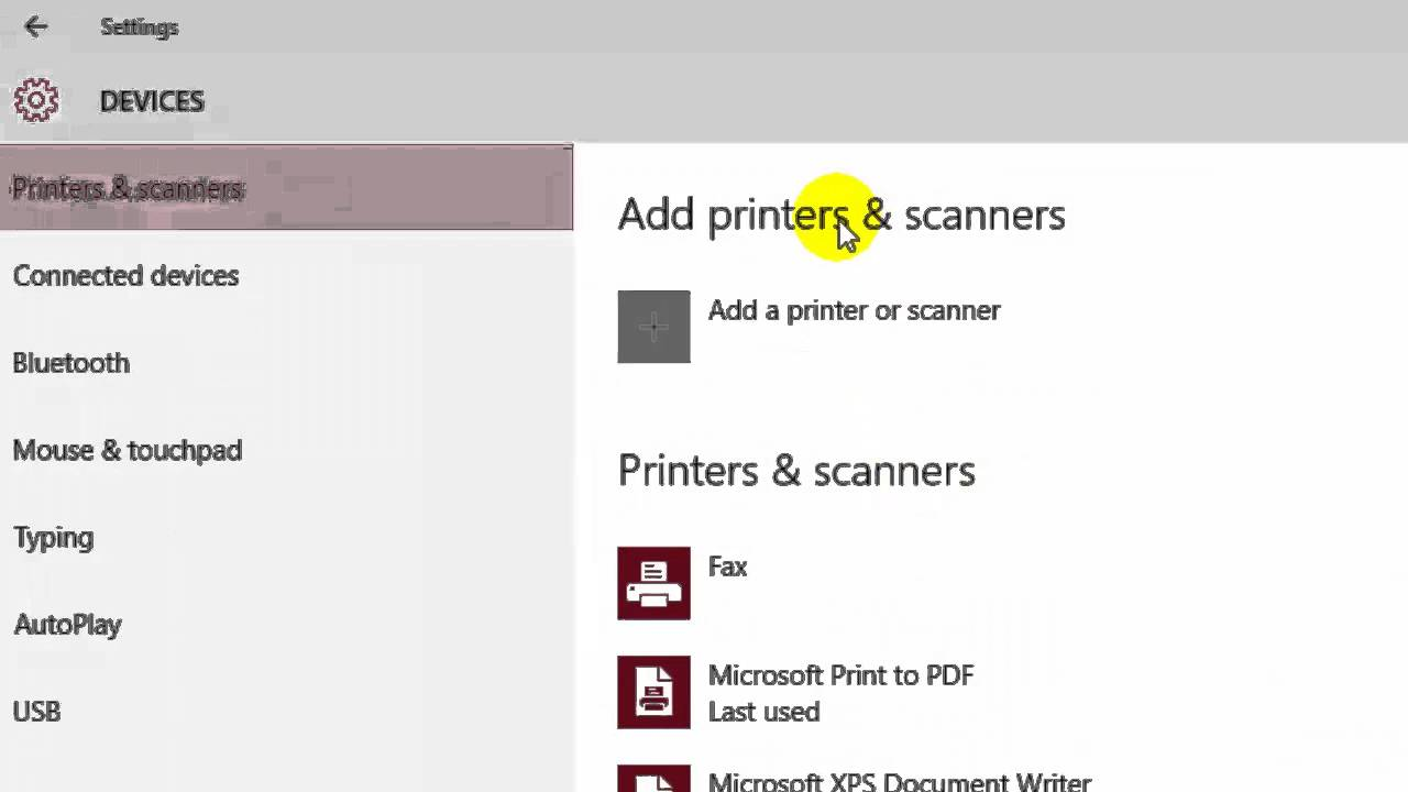 How to add scanner in Windows 10