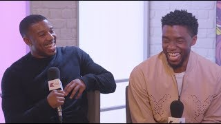 Michael B. Jordan and Chadwick Boseman Talk All Things Black Panther