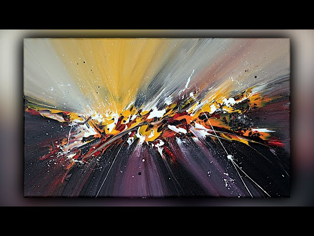 Abstract Painting / Satisfying / Acrylics / Palette Knife / Demo #100