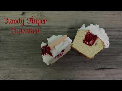 Bloody Finger Cupcake - Halloween