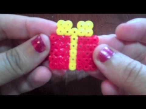 Christmas Hama Beads.Perler Bead Christmas Gift