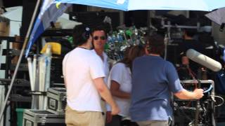 Matt Bomer on the set of the White Collar, Season 6