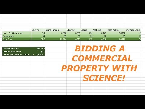 Commercial Lawn Care Property - Bid Process