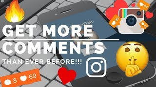 Video HOW TO GET MORE COMMENTS THAN EVER BEFORE ON INSTAGRAM!! download MP3, 3GP, MP4, WEBM, AVI, FLV Juli 2018