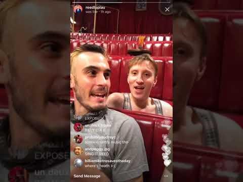 Reed Luplau's Instagram Livestream  82317