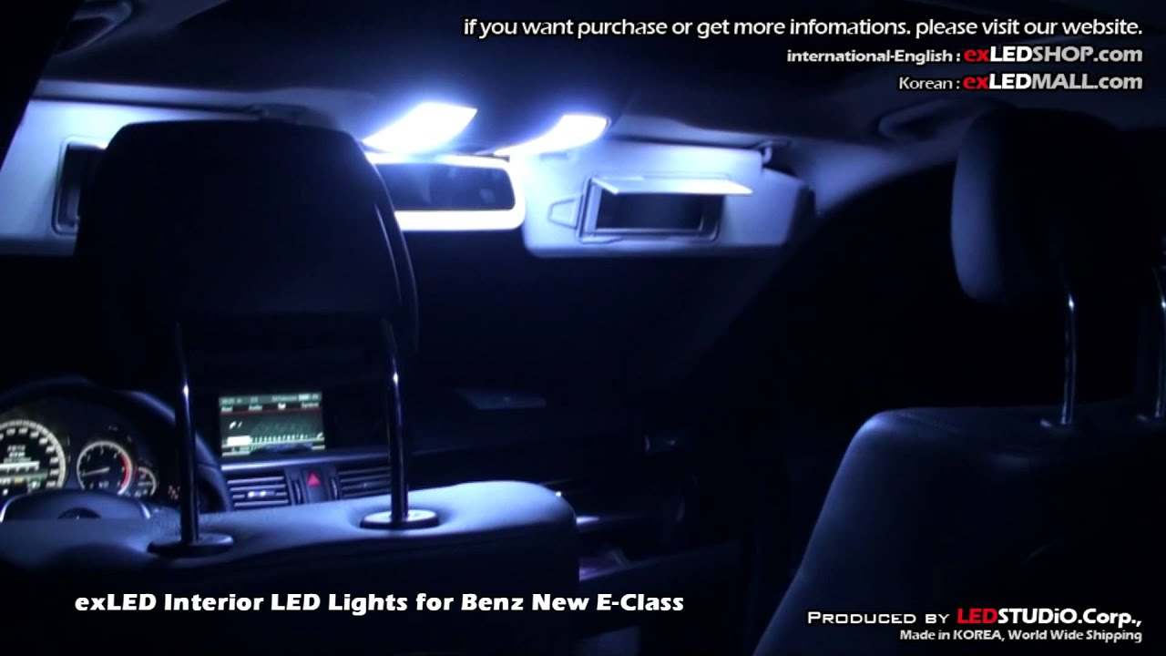 Exled Interior Led Lights For Benz New E Class Youtube