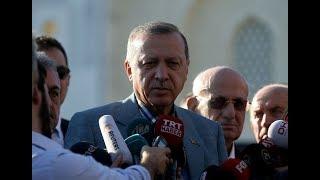 Cumhurbaşkanı Erdoğan kısa süreli bir rahatsızlık geçirdi (Cami çıkışı açıklama)