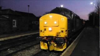 2T21 Sellafield to Carlisle Workers Train DRS Class 37 37409 St Bees + Maryport 12th Jan 2012.wmv