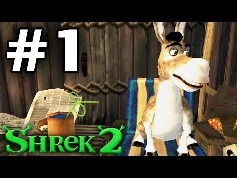 Прохождение Shrek [Шрек] 2 The Game  - Часть 1 - Болото великана.
