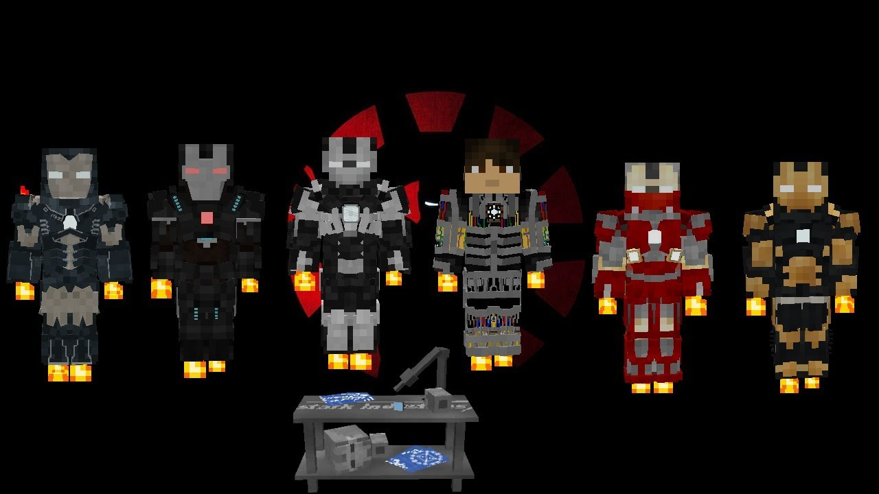 Iron Man Mark 15 20 (Legends Minecraft Mod) Sum 6 0 Suit Showcase
