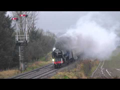 70000 & 60163 Battle The Weather On Route To Shrewsbury  24.11.12