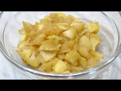 Как приготовить начинку из свежих яблок