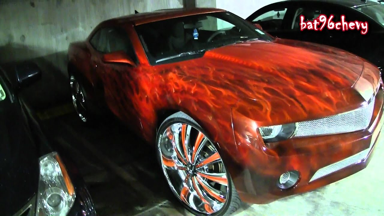 10 Chevy Camaro W Realistic Flames On 28 S 1080p Hd
