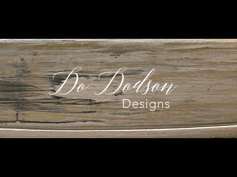 Silver Metallic Grunge Finish For Furniture With Dixie Belle Paint