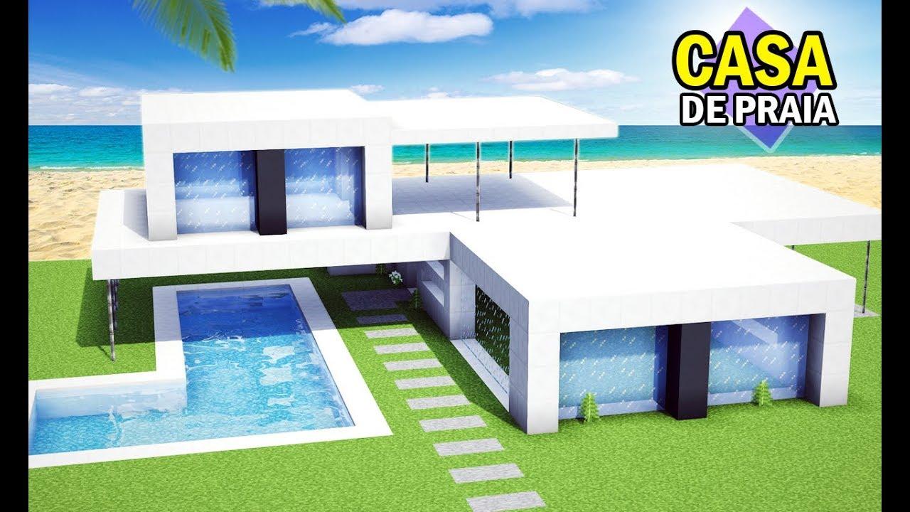 Minecraft tutorial casa de praia super moderna incr vel for Casas super modernas