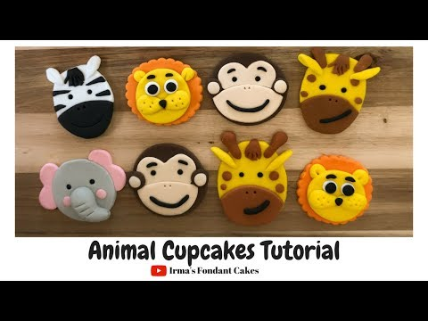How To Make Animal Cupcakes | Irma's Fondant Cakes (5 Styles)