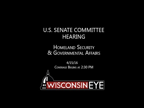 2:30 PM | U.S. Senate Homeland Security & Governmental Affairs Hearing