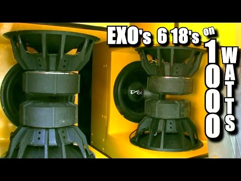 """FRANKENSTEIN LIVES! 6 18"""" Subwoofers on 1000 WATTS! EXOs Sound System Playing SUPER LOW Bass Songs - 동영상"""