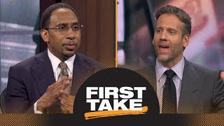 Stephen A. reacts to UNC suspending 13 football players for selling team gear | First Take | ESPN