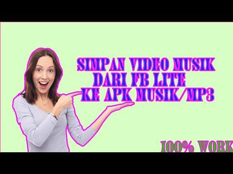 Cara Menyimpan Video Musik Di Facebook Lite Ke Apk Musik||musik MP3