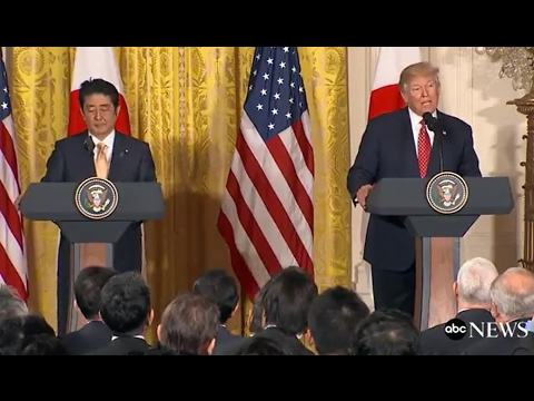 Trump, Japanese PM Shinzo Abe Full Press Conference  | ABC N