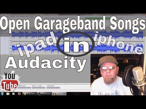 How To Open Garageband Songs In Audacity To Edit