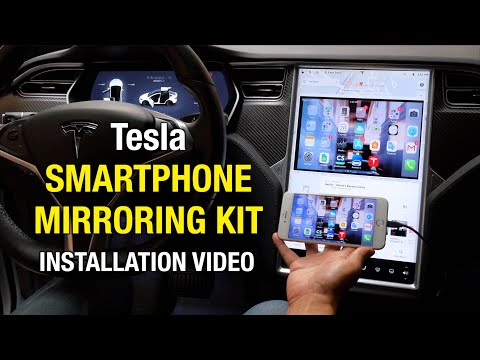 Tesla Smartphone Mirroring Kit for iPhone and Android [Easy DIY Installation Video]  Youtube Netflix