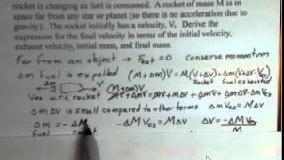 Derivation of Final Velocity of Rocket