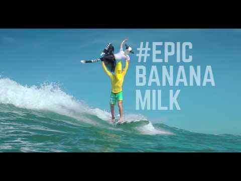 EPIC!!! SAPI & PISANG? SURFING?? - INDOMILK BANANA #EPICBANANAMILK