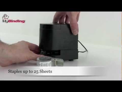 Swingline Desktop Cartridge Electric Stapler Demo SWI