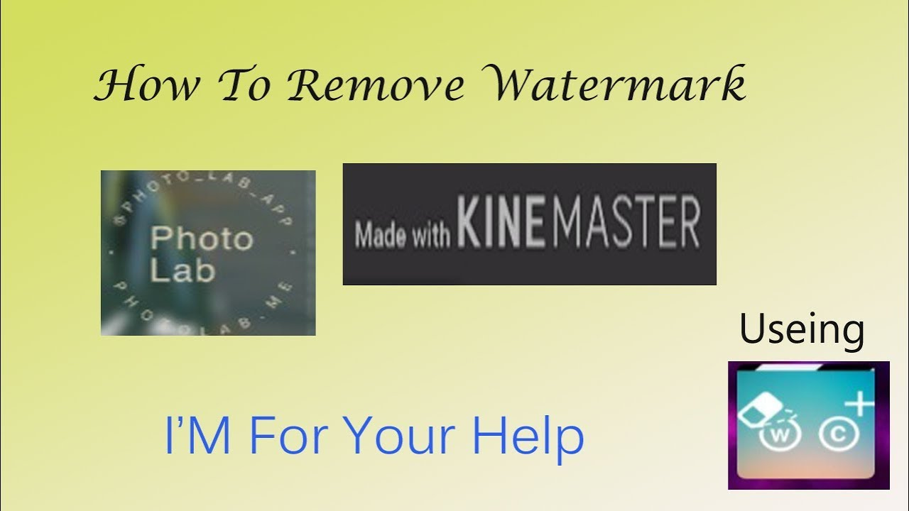 18 76 MB] How to Remove water mark of Kine master|| remove