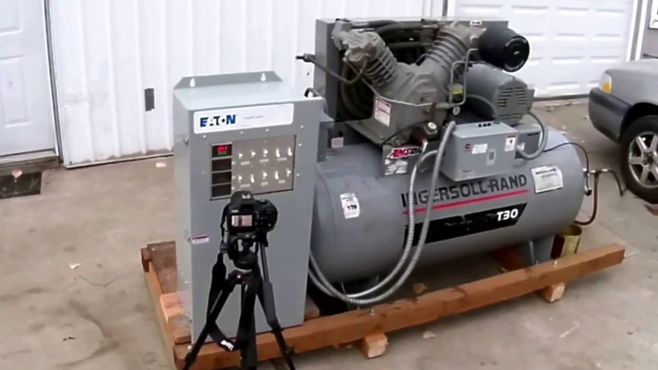 10 Hp Air Compressor Runs On Single Phase Youtube